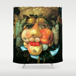 "Giuseppe Arcimboldo ""Fruit basket"" Shower Curtain"
