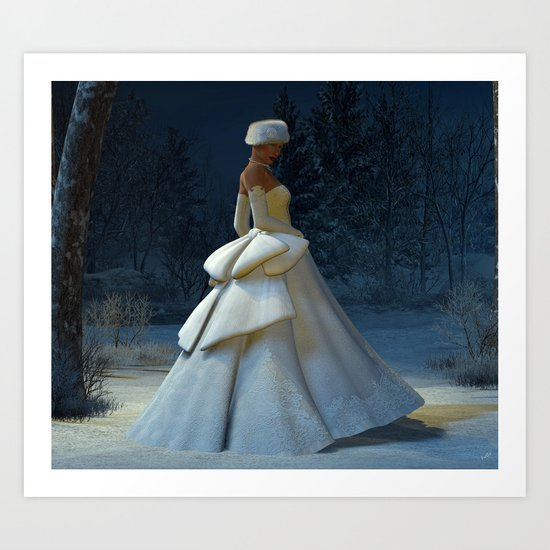 Snow Stride Art Print