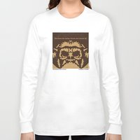 planet of the apes Long Sleeve T-shirts featuring No270 My PLANET OF THE APES minimal movie poster by Chungkong