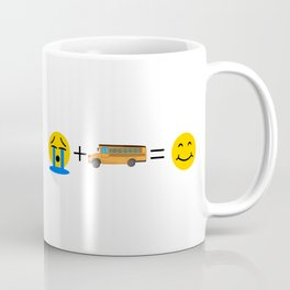 School Bus Driver Emoji Funny School Bus Makes me Happy Coffee Mug