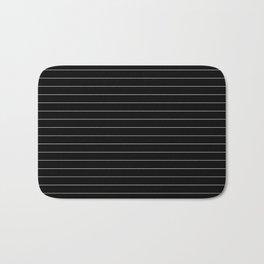 Black White Pinstripe Minimalist Badematte