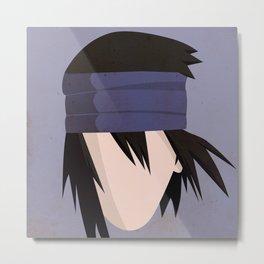 Sasuke Uchiha Simplistic Face The Last  Metal Print