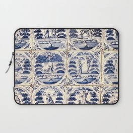Dutch Delft Blue Tiles Laptop Sleeve
