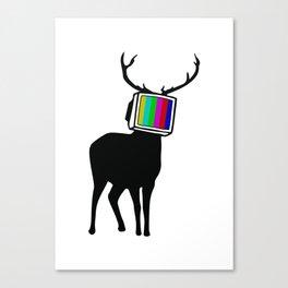 Deer TV Canvas Print