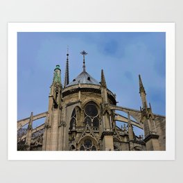 Flying Buttresses Notre Dame Cathedral Paris France Art Print