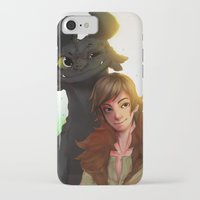 hiccup iPhone & iPod Cases featuring Toothless x Hiccup  by Asad Farook
