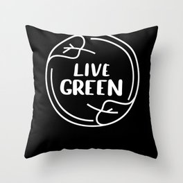 Live Green Climate Throw Pillow