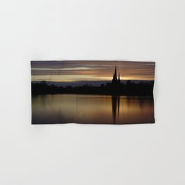 Lichfield Cathedral Sunset Reflection Hand & Bath Towel