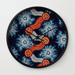 Aboriginal Art Authentic - The Journey Wall Clock