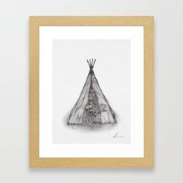 Story time inside the tent Framed Art Print