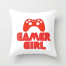 Gamer Girl Throw Pillow