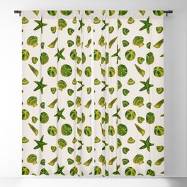 Beach Treasures - Green Blackout Curtain
