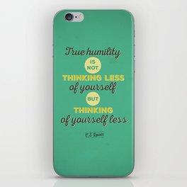 C.S Lewis, Ture Humility - Typographic Quote iPhone Skin
