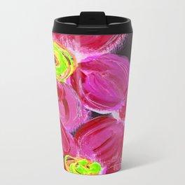 Fuchsia Floral Travel Mug
