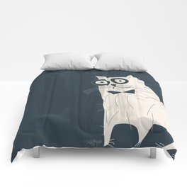 White Fashionable Cat Comforters