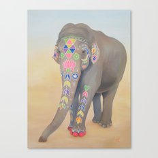Painted Lady, Sujatha Canvas Print