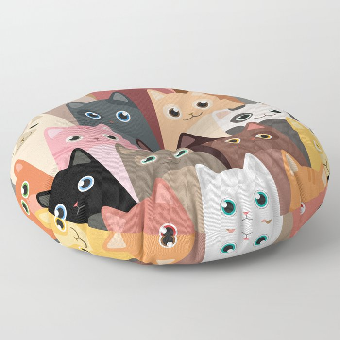 Cats Pattern Floor Pillow