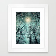 Nature Blazes Before Your Eyes (Mint Embers) Framed Art Print
