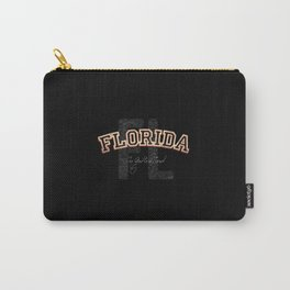 Florida Vintage Retro Collegiate Carry-All Pouch