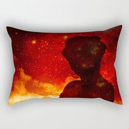 Nebula Girl Rectangular Pillow