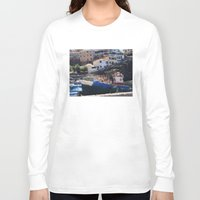 boats Long Sleeve T-shirts featuring Fishing Boats by Mr and Mrs Quirynen