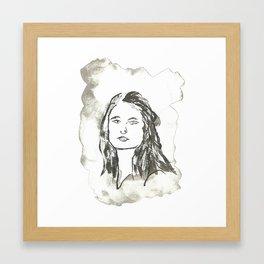 Retrato anónimo Framed Art Print
