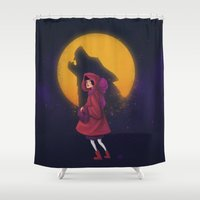 red riding hood Shower Curtains featuring Red Riding Hood by Blanca Limón