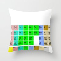 bible Throw Pillows featuring PERIODIC BIBLE by MR TEE