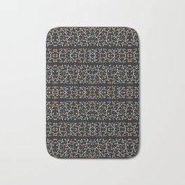 Floral Lace Stripes Print Pattern Bath Mat