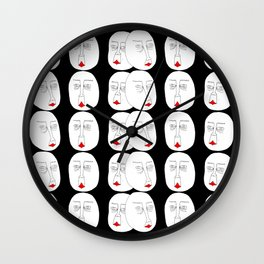 Faces in the Void Wall Clock