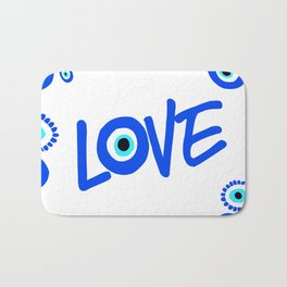 LOVE Mediterranean Eyes Bath Mat