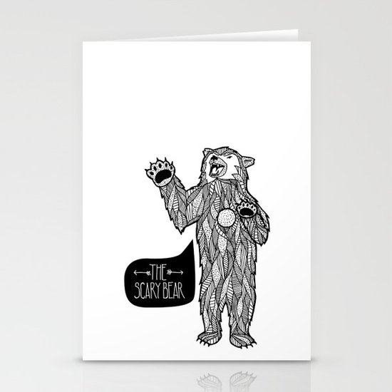 Scary Bear 2 Stationery Cards