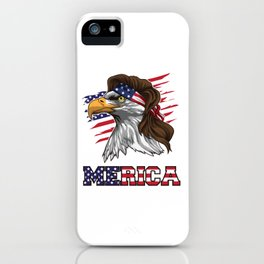 Patriotic Mullet Eagle   Independence Day July 4th iPhone Case