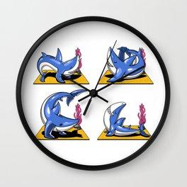 Shark Yoga Ocean Workout Wall Clock