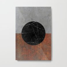 Abstract - Marble, Concrete, Rusted Iron Metal Print