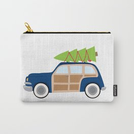Christmas Woody Car Carry-All Pouch