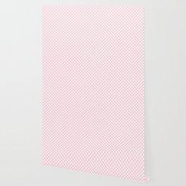 Large White Spots on Light Soft Pastel Pink Wallpaper
