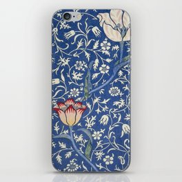 William Morris Victorian blue flowers iPhone Skin