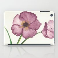 burgundy iPad Cases featuring Burgundy Poppies by trabie