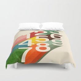 Retro Numbers Duvet Cover