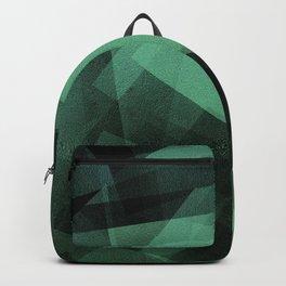 Mint and Black - Digital Geometric Texture Backpack