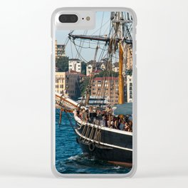 Southern Swan Sailing Ship, Sydney Harbour Clear iPhone Case