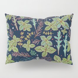 dark herbs pattern Pillow Sham