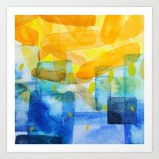 Sunburst Watercolor Art Print