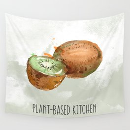Plant-Based Kitchen Kiwi Wall Tapestry