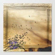These are the days when birds come back Canvas Print