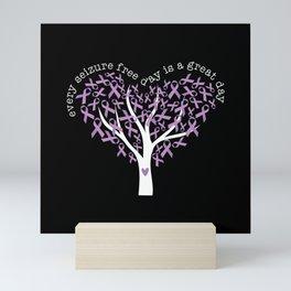 Epilepsy Awareness  Every Seizure Free Day Great Day Ribbon Mini Art Print
