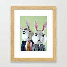 Grandpa Bunnies Framed Art Print