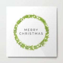 Minimalist Christmas Metal Print
