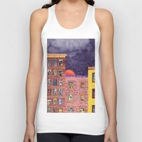 city Tank Tops featuring City by Dawn Patel Art